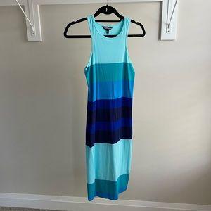 Express Striped Color Block Midi Dress - Sz S